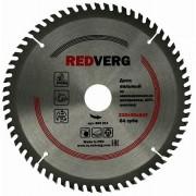Диск пильный по ламинату RedVerg твердосплавный 210х30/20/16 мм, 64 зуба(800511)