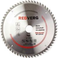 Диск пильный по дереву RedVerg твердосплавный 250х32/30 мм, 60зубьев(800281)
